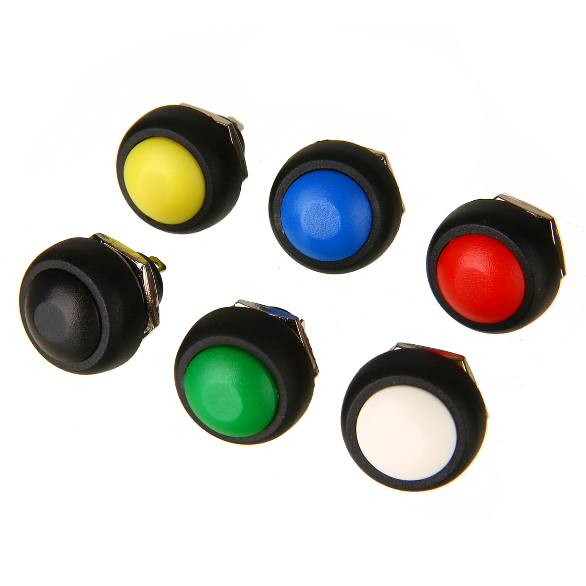 5 X Black 12mm Mini Momentary ON//OFF Round Push Button Toggle Switch Sales