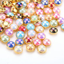 TPSMOC 8mm 50pcs silver golden base AB color Pearls Beads Sew On Gems for  Dress 245d26a55ad2