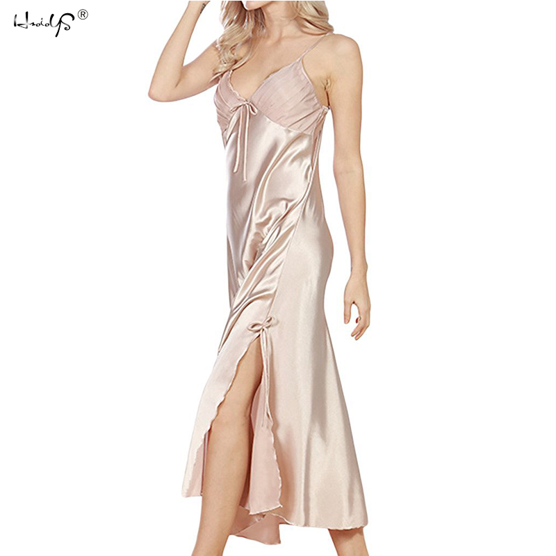 f0b8405e3 Mulheres Sexy Lingerie Camisola Plus Size Rendas Camisola Camisola Lingerie  Cetim De Seda Camisola Longa Gecelik Nightwear em Nightgowns   Sleepshirts  de ...