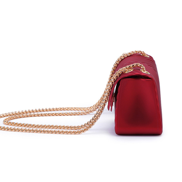 Arsmundi New Handbags Women Frosted Jelly Shoulder Bag Fashion Small Bag V-chain  Messenger Bag Tide Candy Color Female Clutch