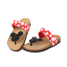 Mickey soft Womens Cotton slippers  Cartoon Lovely cute Woman Sandals Beach Shoes Plus Size 43