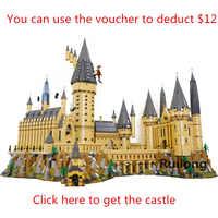 9a5c9e5b96c1 Гарри фильм Поттер серии Legoinglys Хогвартс замок набор строительные блоки  кирпичи большой дом модель рождественские игрушки