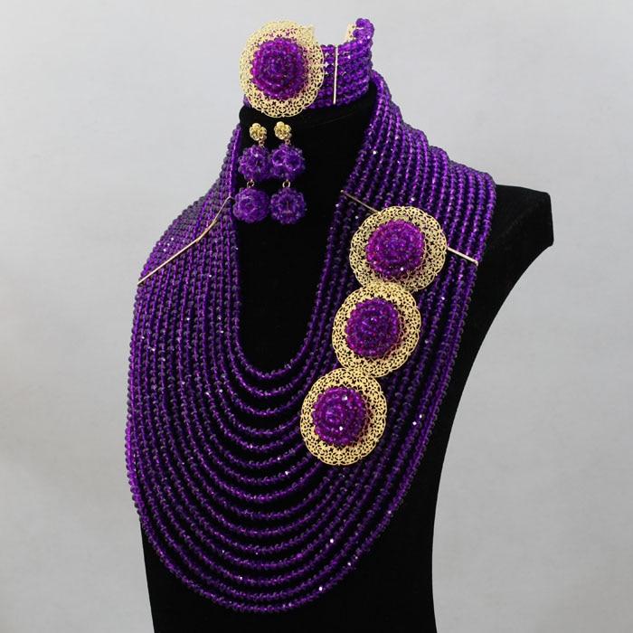 Glänzende Marvelous Nigeria Perlen Fashional Afrikanischen Hochzeit Set Einzigartige Design Neue Ankunft Große Lager Kostenloser Versand hx309-in Schmucksets aus Schmuck und Accessoires bei  Gruppe 2