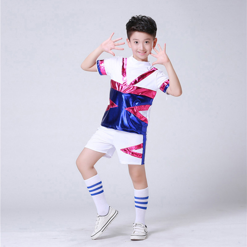 8a6f9ba6f7ba Team Wear Performance Stage Dance Costumes for Kids Girls School Uniform  Sequin Football Boys Cheerleader Clothing Set-in School Uniforms from  Novelty ...