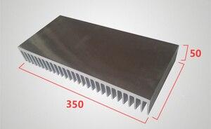 Теплоотвод алюминиевый профиль Высокая мощность алюминиевый радиатор ширина 350 мм, высота 50 мм, длина 100/200/300 мм охладитель электроэнергии