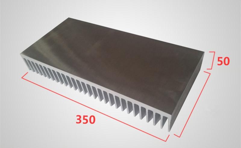 Heat Sink Aluminum Profile High Power Aluminum Radiator Width 350mm,high 50mm,length 100/200/300mm Electricity Generation Cooler