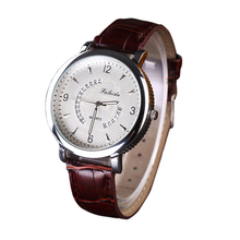 New Brand Fashion PU Leather Sports Quartz Watch Man Military Chronograph Wristwatches Men Army Style