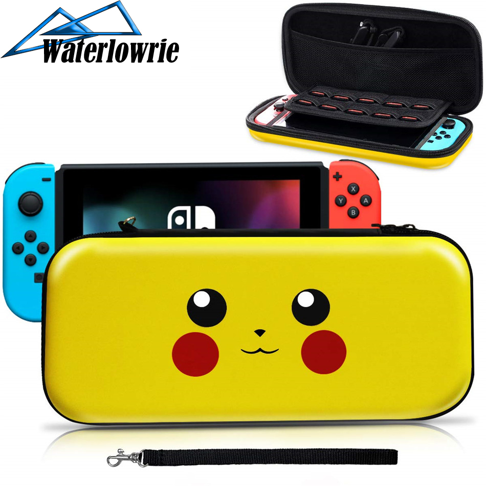 Waterlowrie EVA Storage Bag Cover Case for Nintend Switch for NS Console with Free HD Screen Film Protector For Game consoles