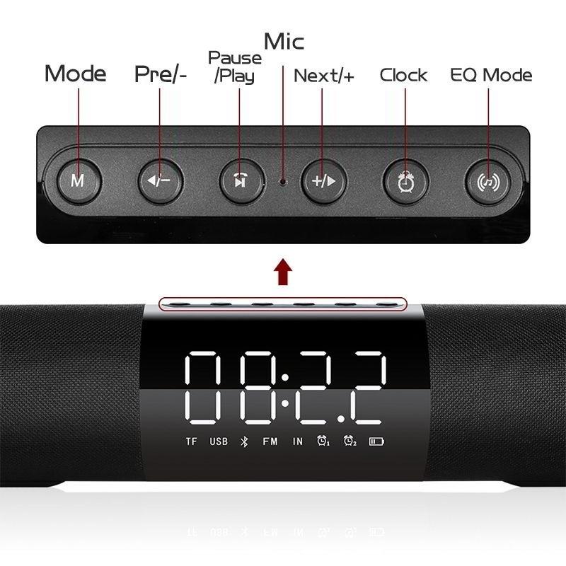 20W Bluetooth Speaker portable 7 hours Long lasting Subwoofer Soundbar Bass wireless speaker music center loudspeaker for xiaomi in Portable Speakers from Consumer Electronics