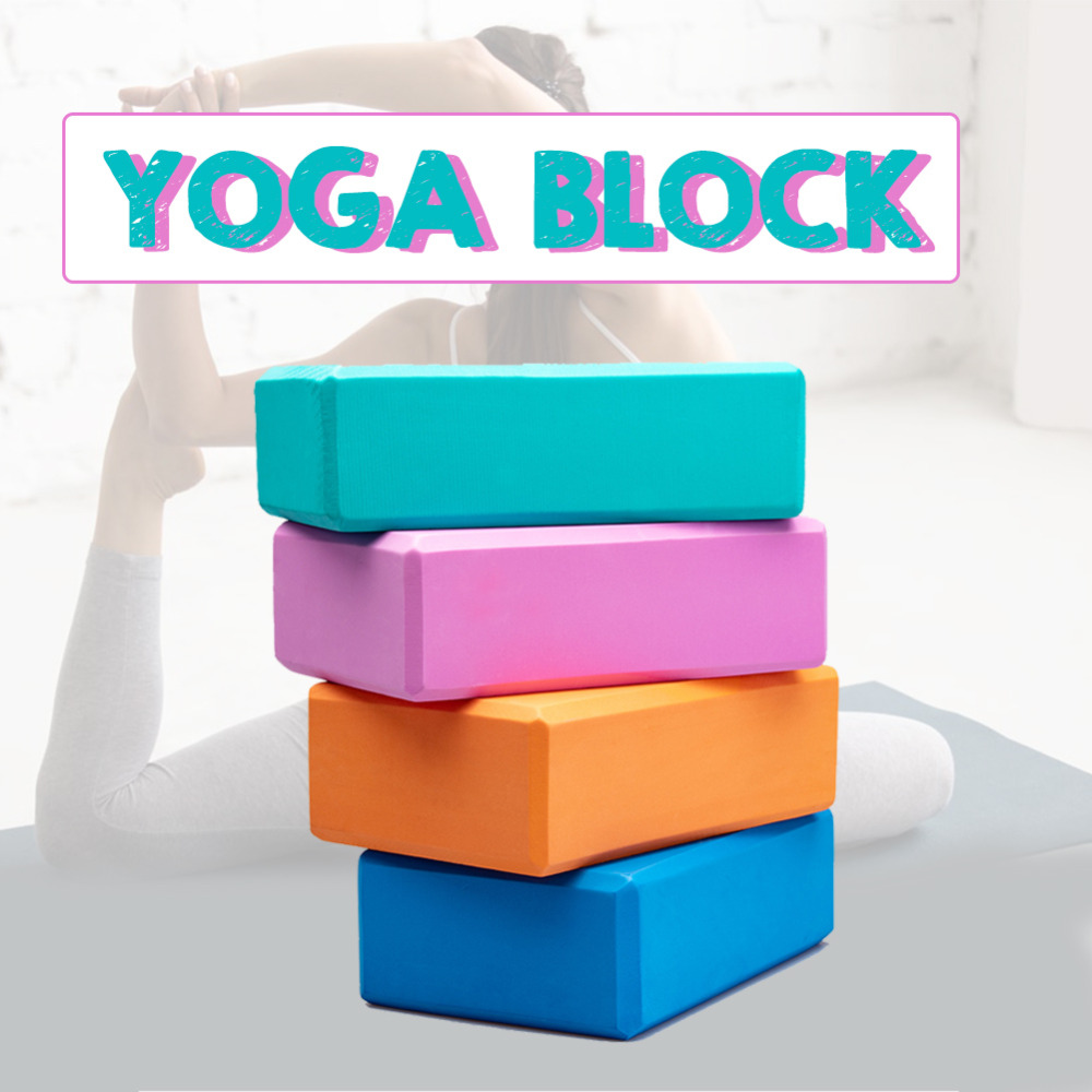 Yoga Block EVA Exercise Workout Fitness Brick Gym Foam Stretching Aid Body Shaping Health Training Yoga Blocks