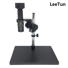 Cheaper LeeTun 5MP USB Camera with Big Size Heavy Duty Adjustable Table Stand 50mm Ring Holder 0.5X Zoom C-Mount Lens Digital Microscope