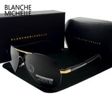 بلانش ميشيل 2020 خمر الطيار النظارات الشمسية الرجال نظارات شمسية مستقطبة القيادة عالية الجودة UV400 مكبرة okulary مع صندوق sunglasses men sunglass man sun glasses