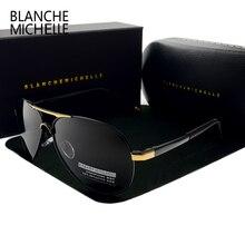 Blanche Michelle 2020 Vintage pilote lunettes de soleil hommes lunettes de soleil polarisées conduite haute qualité UV400 lunettes de soleil okulary avec boîte sunglasses men sunglass man sun glasses