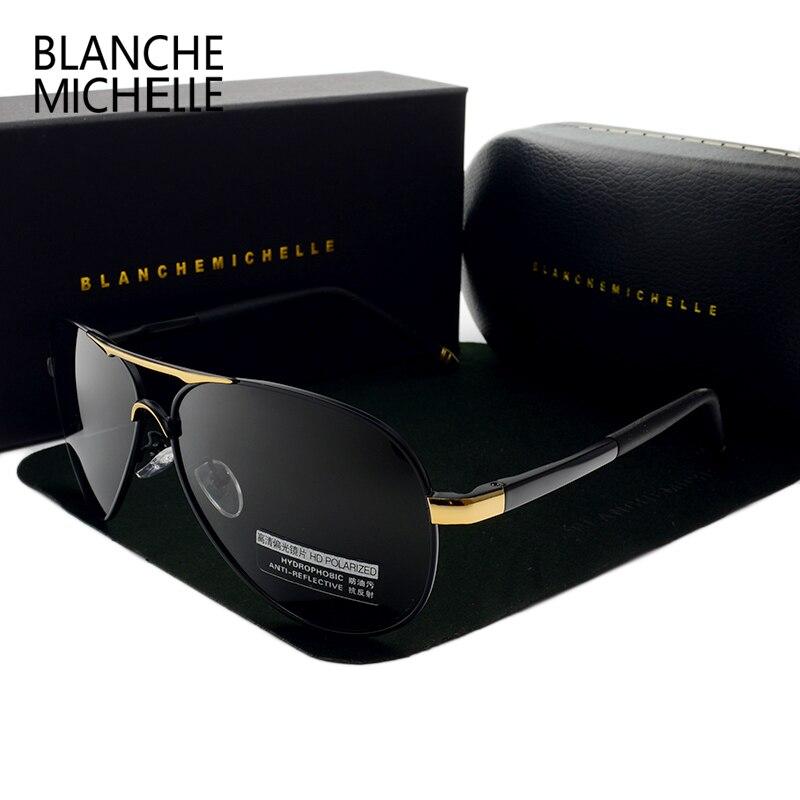 Blanche Michelle 2020 Винтажные Солнцезащитные очки для мужчин Поляризованные солнцезащитные очки для вождения Высокое качество UV400 Солнцезащитные ...