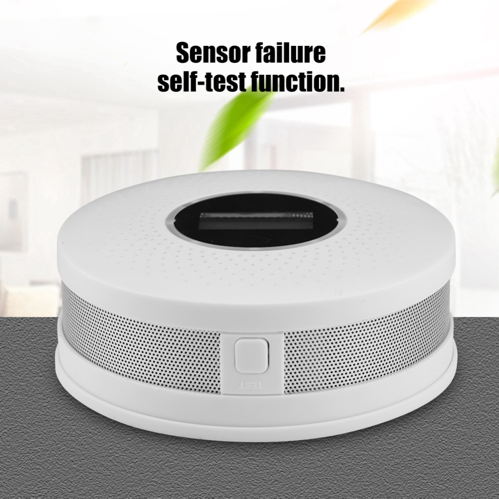 Fire Protection Efficient New 2 In 1 Co Smoke Detector Led Display Alarm Carbon Monoxide Leakage Sensor Smart Human Voice Lcd Display High Reliability