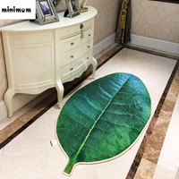 Creative living room carpet Simulation of green leaves 3D Non slip mats Bedroom rug kitchen bedside floor mat free shipping