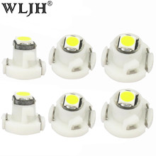 WLJH 10x Neo Wedge T3 T4.2 T4.7 Led 3030 SMD Car Climate Control AC Bulb Switch Radio Gauge Instrument Dashboard Indicator Light(China)