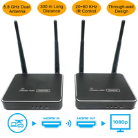 300 m (984ft) ไร้สายเครื่องส่งสัญญาณ HDMI IR รีโมทคอนโทรล HDMI Wireless Extender รองรับ 1080 P WIFI Receiver