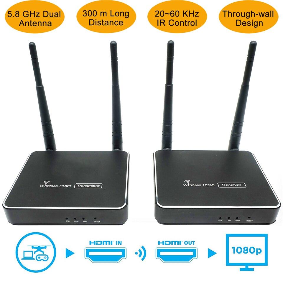 300 m (984ft) sans fil HDMI Émetteur Récepteur Avec Télécommande IR HDMI Sans Fil Extender Soutien 1080 P WIFI Emetteur Récepteur