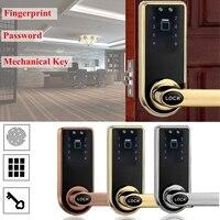 Новый Safurance смарт код двери блокировка клавиатуры отпечатков пальцев карта безопасности дома доступа Управление Электрический замок