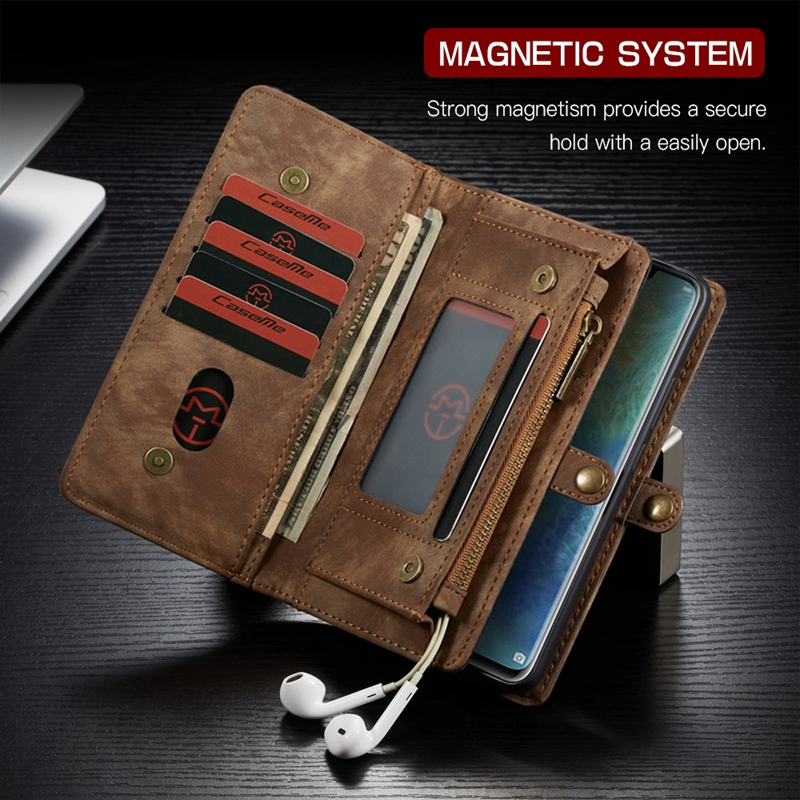 14 Card Slots Zipper Wallet Luxury On Cases Leather For Coque Huawei Mate 20 Pro P20 Lite Nova 3E Mate20 Flip Cover Case Etui iphone xs 財布