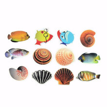 6Pcs/Set Bath Tub Adhesive Stickers Anti-slip Fish Nonskid Sticker Kid Shower Safety Decor Stickers for Bathroom Accessory