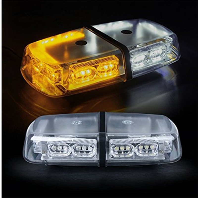 Car Styling 36 LED Strobe Beacon Warning Lightbar/Emergency Ambulance Mini Lightbar/Amber Red Blue Light with High Duty Magnetic new coming led lightbar 240 led 20w beacon light with magnets emergency strobe light bar dc12v led warning light