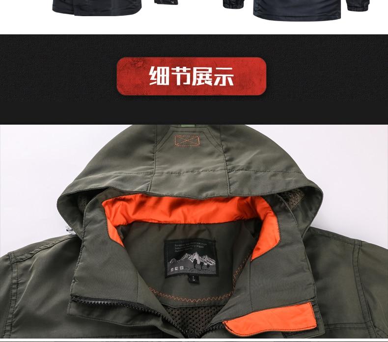 HTB16VI6aVY7gK0jSZKzq6yikpXaT 2019 Bomber Jacket Men Autumn Winter Multi-pocket Waterproof Military tactical Jacket Cap Windbreaker Men Coat Outdoor stormwear