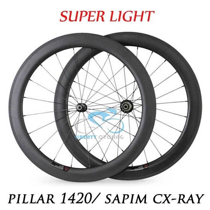 Deerace супер легкий 700C 60 мм углерода довод бескамерные дорожного Велосипедный Спорт Колёса et 23 мм/25 мм Широкий велосипед колёса