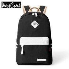 Adrette Mode Frauen Leinwand Solide Schultasche Marke Travel Schwarz Rucksack Für Mädchen Jugendliche Stilvolle Laptop-tasche Rucksack