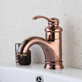 цена на Basin Faucets Luxury Rose Gold Bathroom Faucet Single handle Basin Mixer Tap Deck Mounted Brass Lavatory sink Mixer Basin Tap