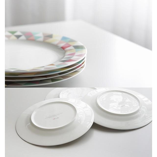 Online Shop 1 PZ Da Tavola In Ceramica Piatto Colorato Geometria ...
