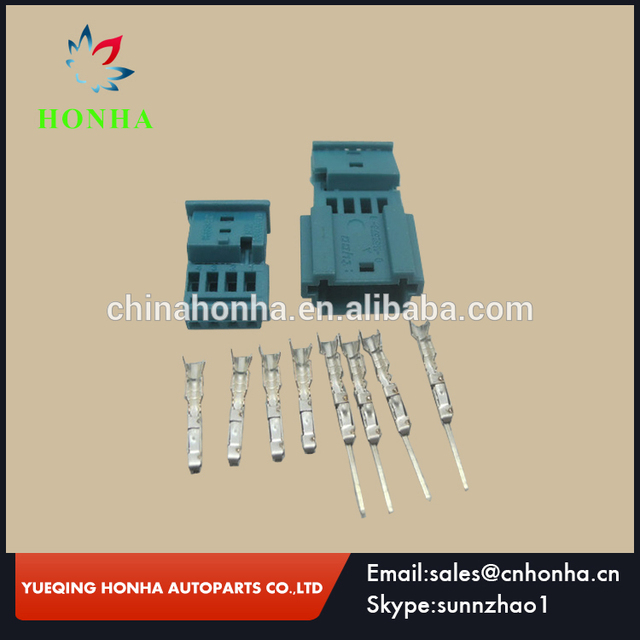 high quality 968813 9c 0 1452576 8 PA66 4 pin Female and Male ...