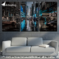 3 Panel Wall Art Painting New York City Night Home Decoration Canvas Prints Pictures For Living