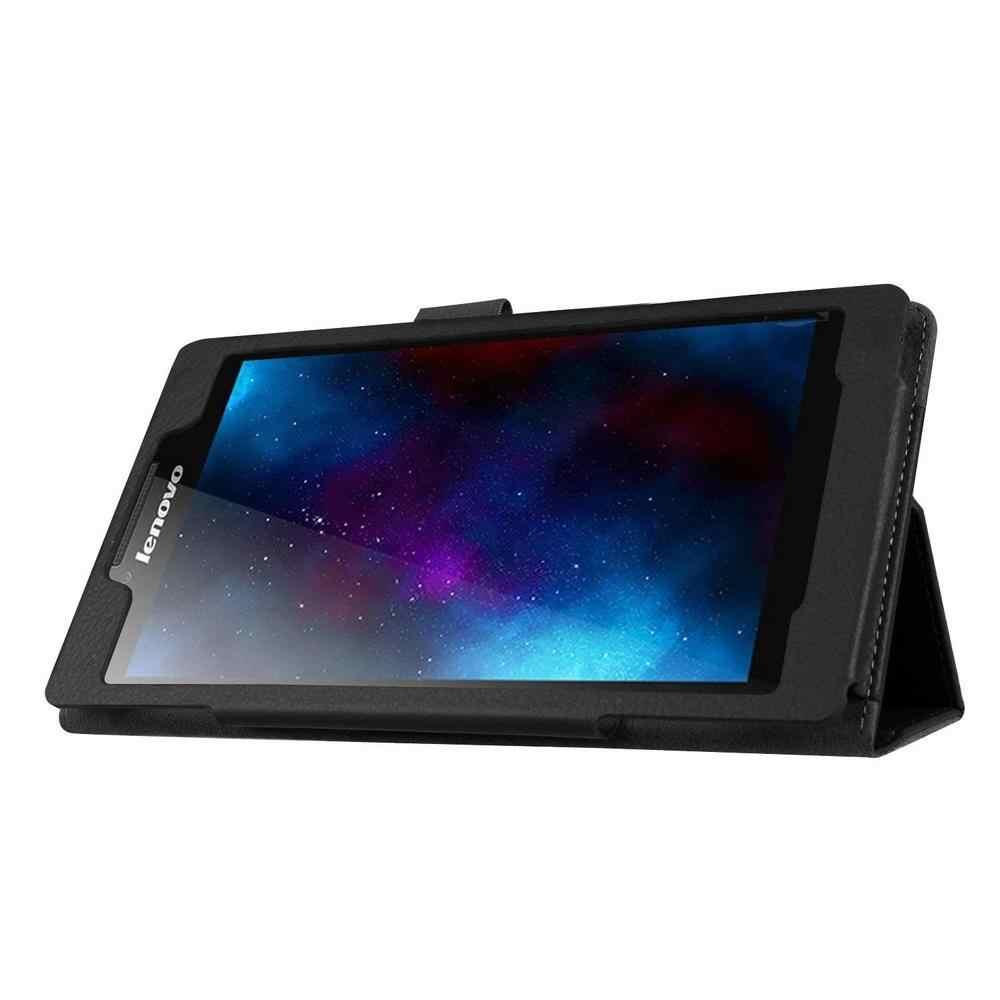 "Kılıf için Lenovo Tab 2 A7-10f A7-20f Tablet 7 ""inç Kapak Kılıf için Lenovo Tab 2 A7-10 A7-20 Flip standı PU Deri Litchi Desen"