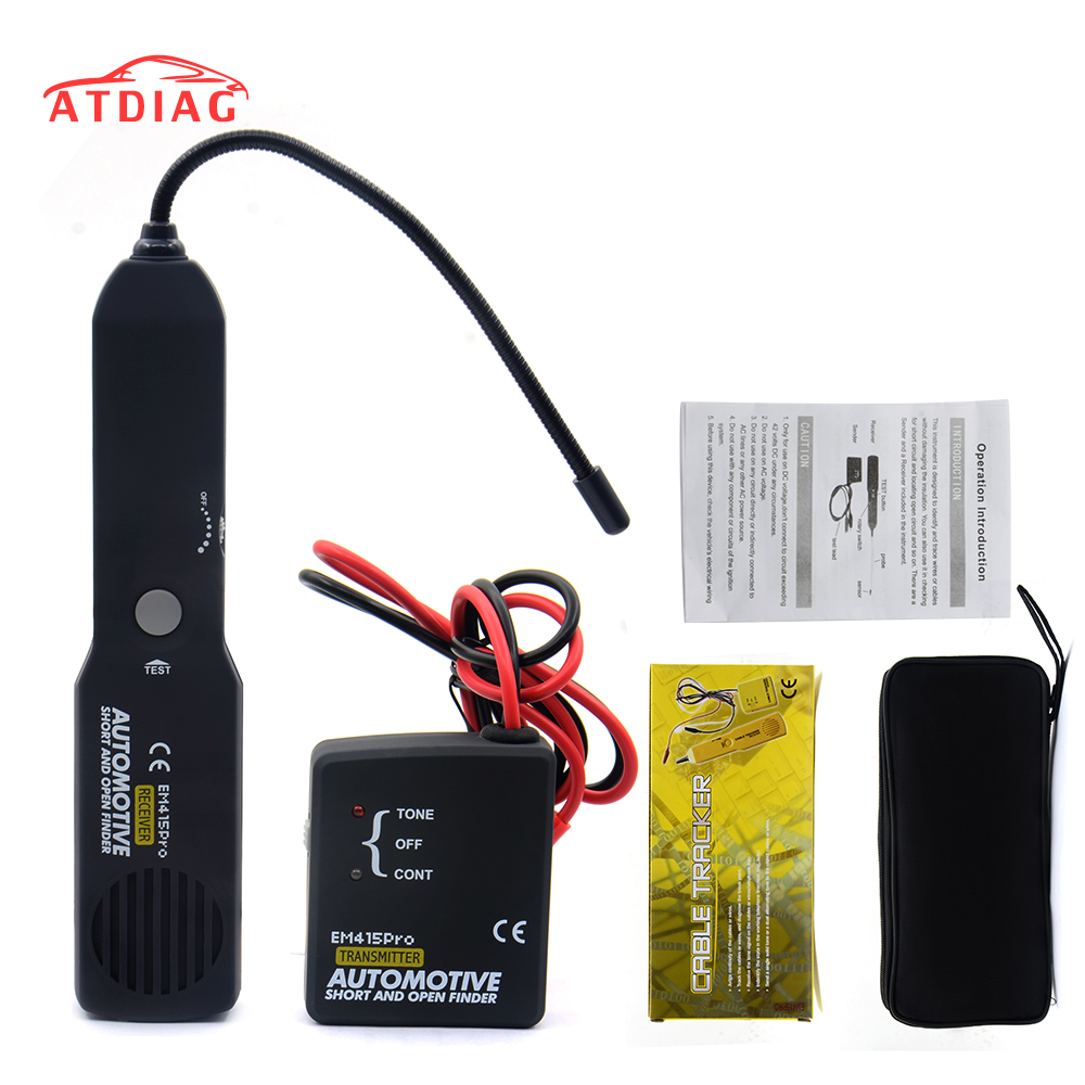 Universal Em415pro Automotive Cable Wire Tracker Short Open Power Relay Finder Free Shipping Em415 Pro 6 42v