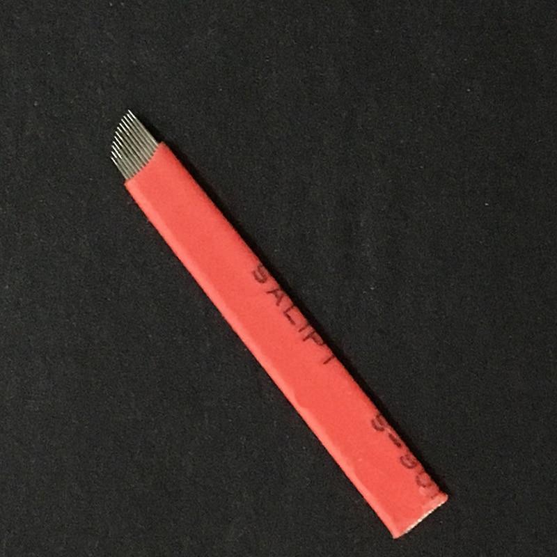Image 5 - 100pieces 12 Flex 0.18mm Laminas Tebori 12 pin Microblading Needles Permanent Makeup Eyebrow Tatoo Blade For Manual Tattoo Pen-in Tattoo Needles from Beauty & Health