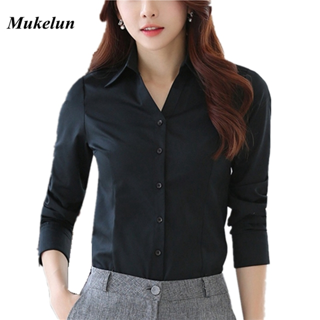 d2b0c1a6c566a Women Blouses 2018 New Fashion Autumn Casual Female Blusas Winter OL Office  Formal white shirt women long sleeve blouse black