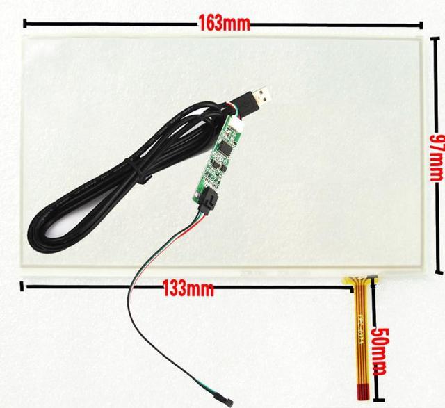 """Новый USB Контроллер Kit + 7 """"163*97 мм 163*97 мм Univeral 4 Проводной Резистивный Размер: 163 х 97 мм 163 мм * 98 мм Сенсорная Панель Дигитайзер Экран"""