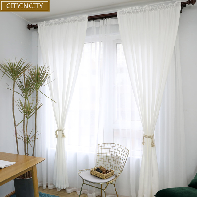 CITYINCITY white Curtains for Living room Rideaux Modern sample ...