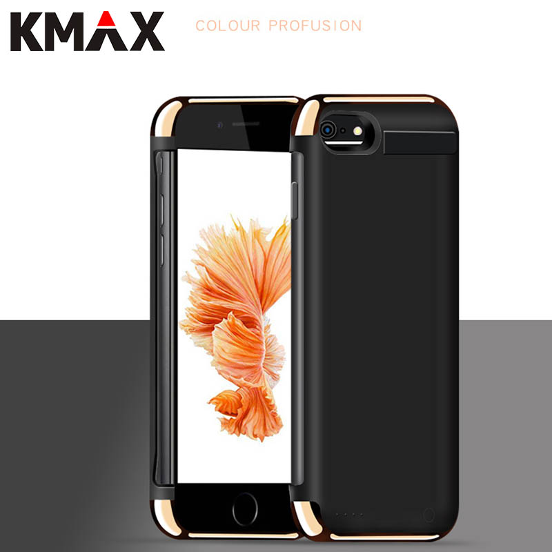 KMAX 5000/8000mAh Battery Charger Case For iPhone 6 6S Plus 7 Plus External Battery Pack Backup Power Bank Charging Cover Case