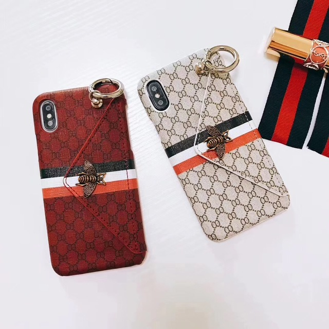 f0dca779c639d2 SZYHOME Phone Cases for Iphone X 7 8 Plus Luxury Classical 3D Metal Bee  Fashion for IPhone 6 6S Back Cover Card Pocket Holder