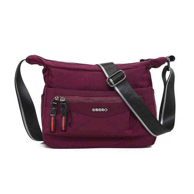 Fashion Women Messenger Bag Waterproof Zipper Shoulder Bags Travel  Crossbody Bags Lightweight and Wear-resistant f8f30bcba3233