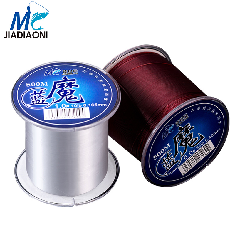 Jiadiaoni 500m exotic nylon carp fishing line super strong for Strong fishing line