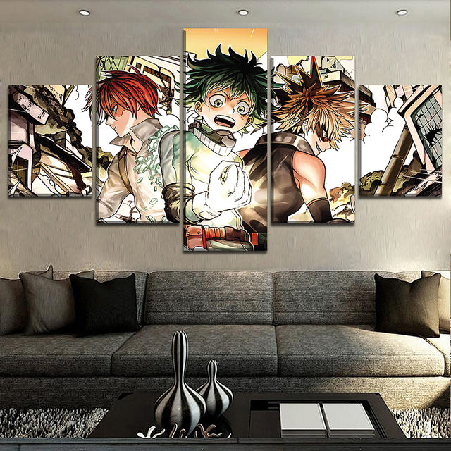 5 PIECES MY HERO ACADEMIA WALL POSTER