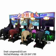Hot Sale ! For 4XPlayers, Amusement Park Equipment Adults Video Horse Riding Simulator Game Machine