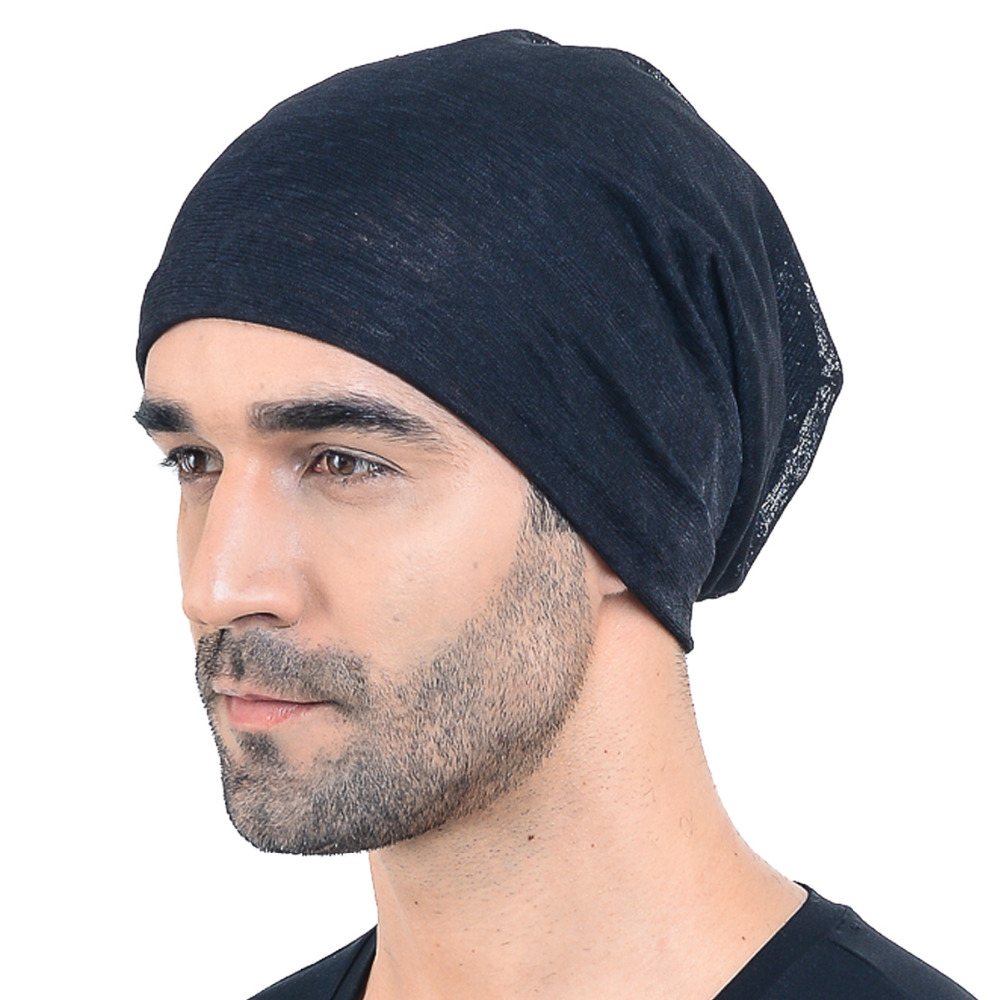 fa7f38d6b44 Jersey Thin Hollow Slouch Beanie Cap Baggy Casual Solid SkullCap Summer  Cool Outdoor Hats HISSHE-in Skullies   Beanies from Apparel Accessories on  ...