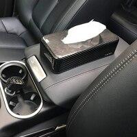 Настоящая коробка для салфеток из углеродного волокна, чехол для полотенец, универсальный чехол для BMW Mini Cooper Porsche Macan Cayenne Panamera Audi