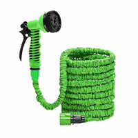 25FT-200FT Garden Hose Expandable Magic Flexible Water Hose Car Pipe watering connector With 8 Spray Gun To Watering