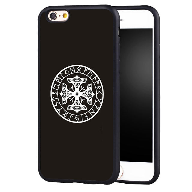 viking runes thor s hammer case cover for iphone 7 7plus 6 6splus
